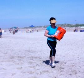 Siobhan on the beach